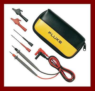 Fluke TL80A Basic Electronic Test Set Leads Probes Clips C75 Pouch USA made Kit
