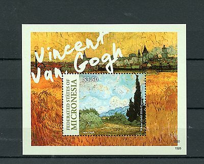 Micronesia 2015 MNH Vincent van Gogh 1v S/S Art Paintings Wheat Field Stamps