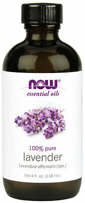 NOW FOODS 100% Pure Lavender Essential Oil 4oz For Burners & Diffusers Calm FREE
