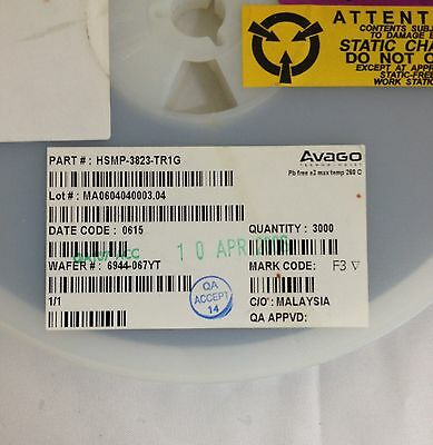 x100  AVAGO HSMP-3823-TR1G **NEW** Diode PIN Switch 50V 3-Pin SOT-23