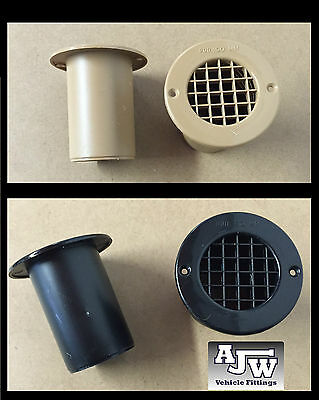 Black / Beige 75Mm Long Gas Drop Out Floor Vents Motorhomes Campervans Caravans