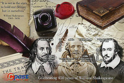 Curacao 2014 MNH William Shakespeare 450 Yrs 4v M/S Literature Playwright Stamps