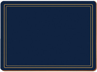 Set of 6 CLASSIC BLUE Premium Cork-Backed PLACEMATS