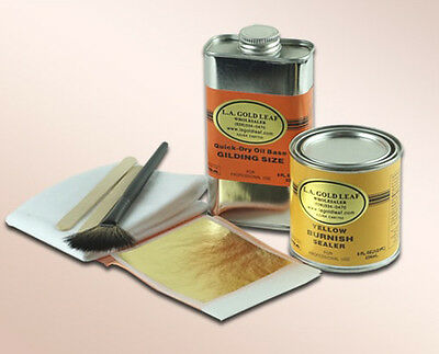 24K Genuine Gold Leaf Kit for gilding : 8oz.