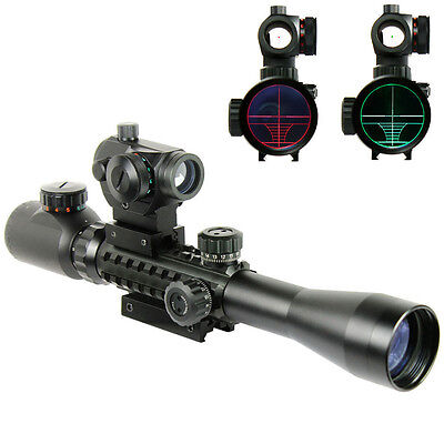 New Style 3-9X40EG Rifle Scope Holographic Red / Green Dot Sight / Rail Riser
