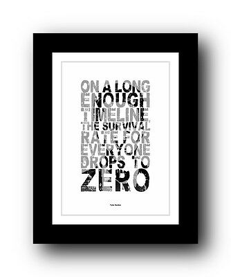 ❤  Fight Club ❤ Typography movie quote poster art limited edition print #36