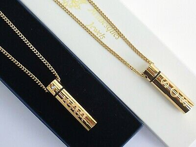 """Sos Necklace Pendant 30"""" Medical Emergency/alert/stainless Steel Talisman Gold"""