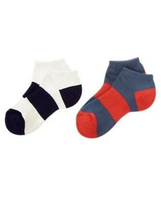 63740793702e GYMBOREE ISLAND CRUISE NAVY N RED 2-pair OF BOYS SPORT SOCKS S NWT