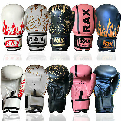 4 oz 6 oz 8 oz Kids Boxing Gloves Punch Bag Sparring Training Mitts MMA R A X