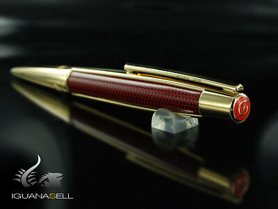 S.T. Dupont Iron Man Limited Edition Ballpoint pen, Gold trim, Red, 405720