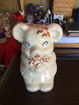 Vintage Bear Two Sided/Faced Cookie Jar