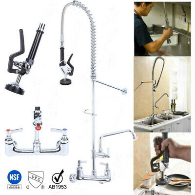 "Commercial Kitchen Wall Mount Pre-Rinse Faucet w/38"" Flexible Copper Hose"