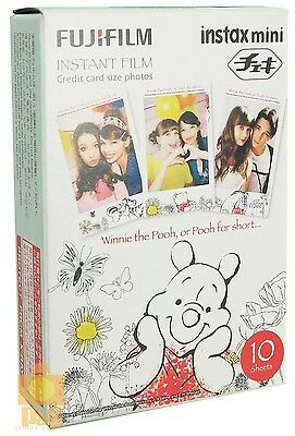 NEW FUJI INSTAX MINI INSTANT FILM 1 PACK (10PCS) Winnie the Pooh Expired:2016-04