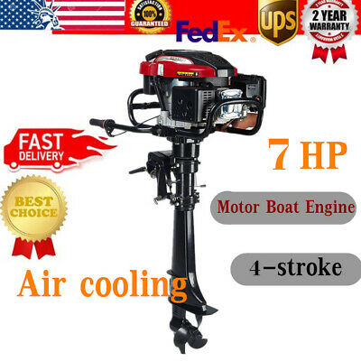 HANGKAI 4 Stroke 7 HP Outboard Motor 196CC Boat Engine w/ Air Cooling System UPS