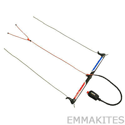 Traction Kite Control Bar with Wrist Leash Safety System for Buggying Boarding