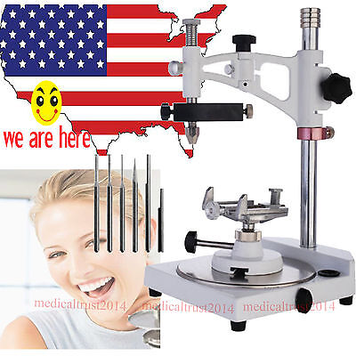 Dental Lab Parallel Surveyor with tools handpiece spindle holder square Base Tus