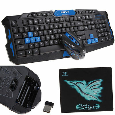 2.4G Wireless 104 Gaming Keyboard + Game Mouse Set Combo for Desktops Laptop PC