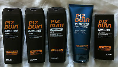 Jeder 2 Piz Buin ALLERGIE Lotion Vorbeugung Prickly Hitze LSF 50+ 30 15/Aftersun