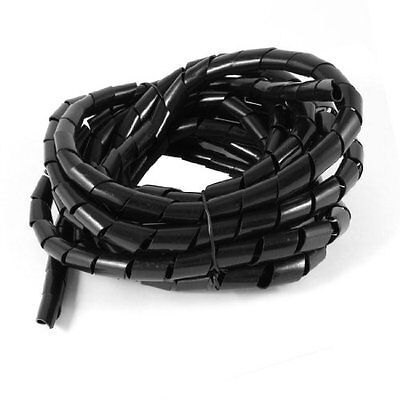 5Meter Long PE Polyethylene 14mm Spiral Cable Wire Wrap Tube Black, New, Free Sh