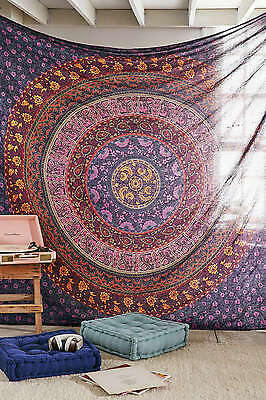 Twin Indian Mandala Tapestry Hippy Hippie Wall Hanging Bohemian Bedspread Throw