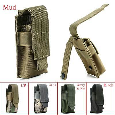 Tactical Military Flashlight Torch Belt Holster Holder Case Pouch Pack Portable