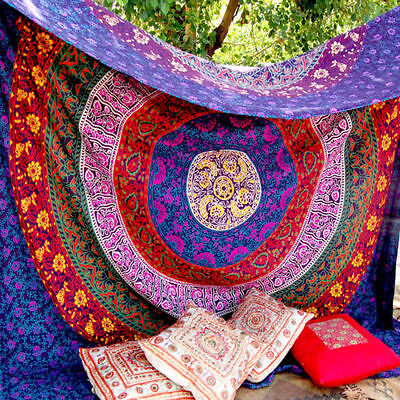 Queen Hippie Indian Tapestry Wall Hanging Mandala Throw Bedspread Bohemian Decor