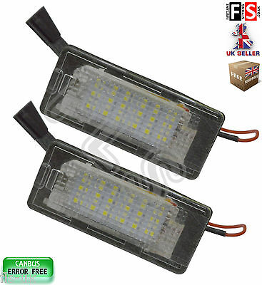 2 X Vw Number Plate Lights Vw Golf Jetta Passat Polo 18 Smd Canbus Error Free