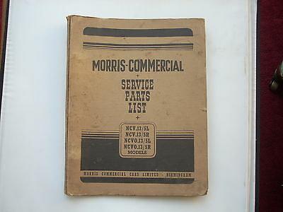 MORRIS COMMERCIAL parts list  NCV13/5L 5R, NCVO13/5 chassis published 1949