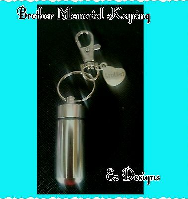 Cremation Ashes/keepsake Urn Brother Family Charm Memorial Keyring