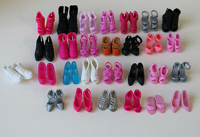 10pairs random send Party Doll's Doll Accessories Genuine shoes For Barbies doll