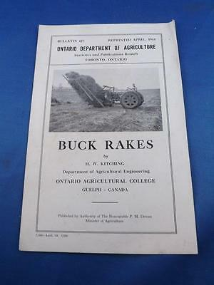 Information Brochure Buck Rakes Ontario Department Agriculture Farm Equipment
