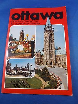 Ottawa Canadas Capital City Booklet Souvenir Travel Map