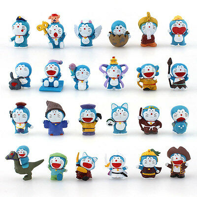 24PCS PVC Figures New Mini Doraemon Doll Collection Display Toy Gift