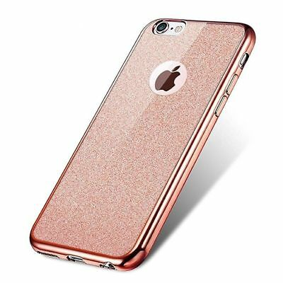 iPhone Case For XS X 8 Bling TPU Silicone Glitter Cover 7 6 6s 5 s SE I Phone