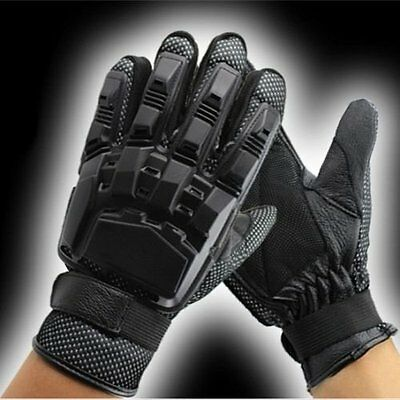 Paintball Full Finger Airsoft Tactical Military Cycling Armour Gloves Black