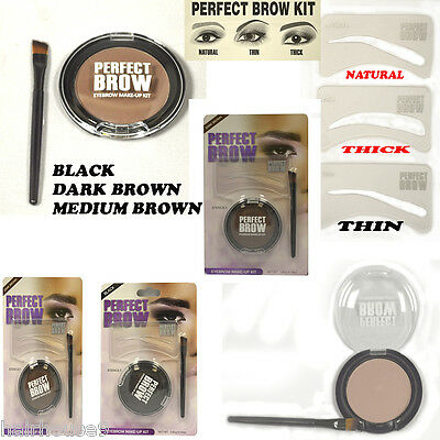 Perfect Brow Eyebrow Make up Kit Eyebrow Stencil 3 Eyebrow Stencils Brush