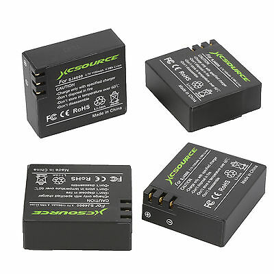 4x 3.7V 1100mah Li-ion Battery + Dual Charger for SJ4000 Action Sport Cam OS480
