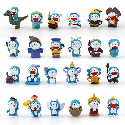 24PCS PVC Figures New Mini Doraemon Doll Collection Toy Gift Display