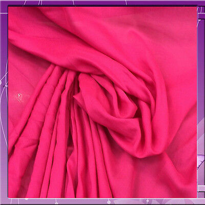 """100% Rayon Challis Celise Pink Fabric 58"""" Wide Sold By The Yard"""