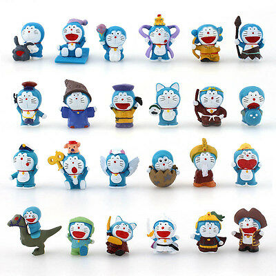 24PCS PVC Figures New Mini Doraemon Doll Toy Gift Collection Display