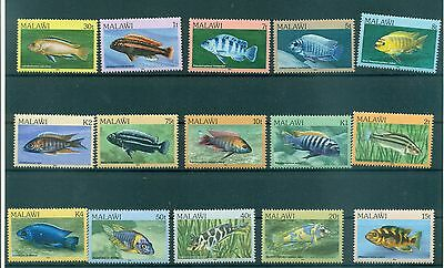 POISSONS - FISHES MALAWI 1984 Common Stamps