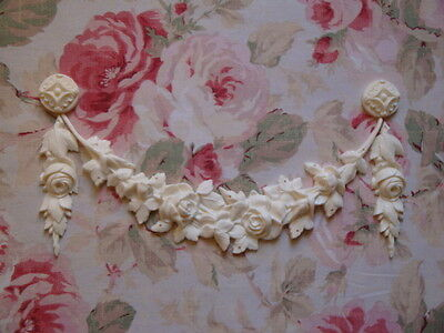 Shabby & Chic Rose Swag Rose Drops Rosette Furniture Applique Embellishment