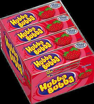 20 X Hubba Bubba Wrigley's Soft Bubble Chewing Gum Seriously Strawberry