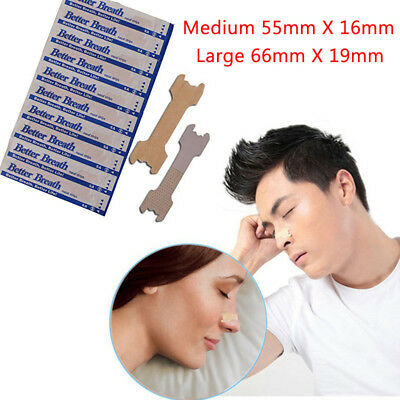 100-200 Better Breath Nasal Strips Med / Large Tan - Right Aid To Stop Snoring