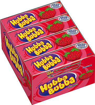 40 X Hubba Bubba Wrigley's Soft Bubble Chewing Gum Seriously Strawberry