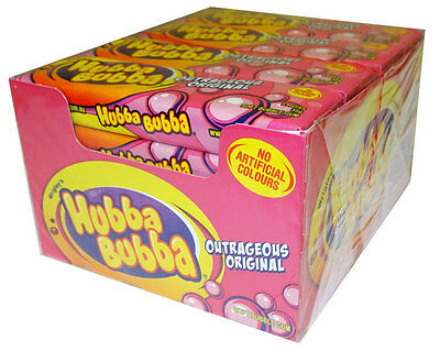 40 X Hubba Bubba Wrigley's Soft Bubble Chewing Gum Outrageous Original