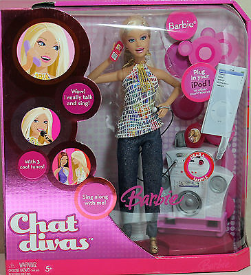 Chat Divas Barbie 2006, MIB NRFB - 44724