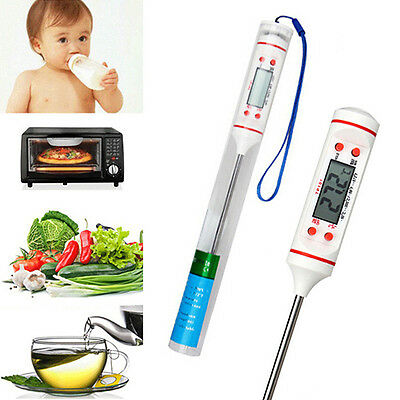 Meat Thermometer Kitchen Digital Cooking Food Probe Vivid Bbq Detector Tool