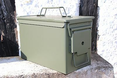 US Munitionskiste Munikiste Box Transportkiste Cal.50mm M2A1 Metall Oliv Neu MF