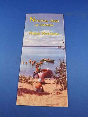 Travel Brochure National Parks Of Canada Prairie Provinces Maps 1952